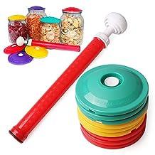 9 In 1 Set Jar Sealers Vacuum Sealing Sealer Food Saving Storage Bags Keep Food Fresh Canning Set(Pack of 9 Covers and 1 Pump)