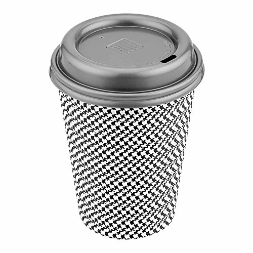 500-CT Disposable Pewter gray Lid for Coffee and Tea Cups – Fits 8-OZ, 12-OZ, and 16-OZ Cups: Perfect for Coffee Shops, Juice Shops, and Restaurant Takeout – Recyclable Plastic Lid – Restaurantware (Pewter Lid)
