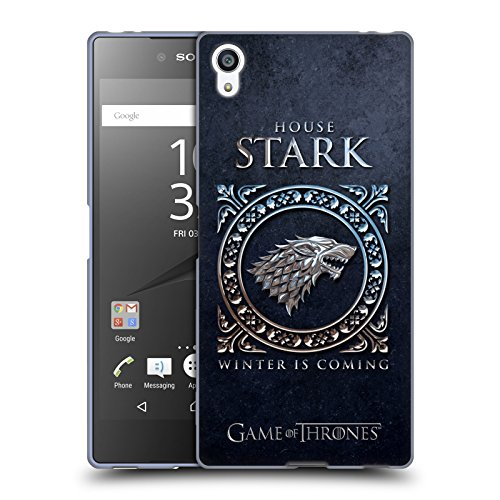 Official HBO Game Of Thrones Stark Metallic Sigils Soft Gel Case for Sony Xperia Z5 Premium / Dual