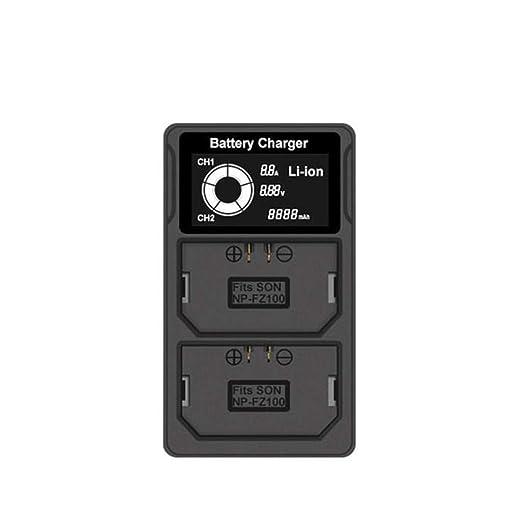 TwoCC Cargador dual de batería Np-Fz100 Lcd para Sony Alpha ...
