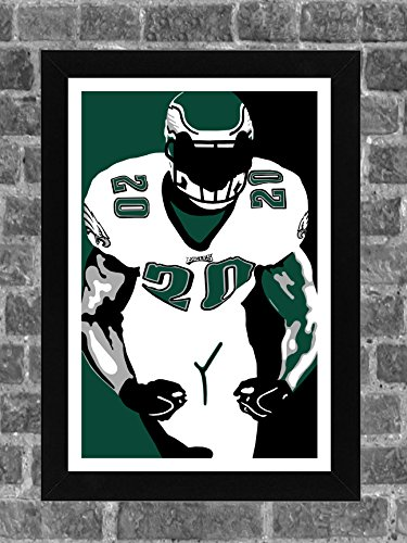 Philadelphia Eagles Brian Dawkins Portrait Sports Print Art