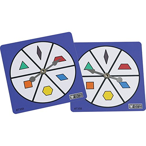 - Didax Educational Resources Pattern Block Spinners, Set of 5