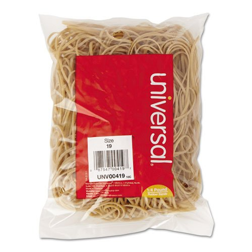 Universal - Rubber Bands, Size 19, 3-1/2 x 1/16, 310 Bands/1
