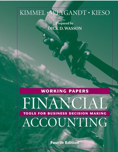 Financial Accounting, Working Papers: Tools for Business Decision Making (Financial Accounting Working Papers)