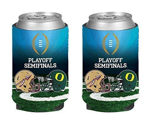 2014 - 2015 NCAA College Football Playoff Match Up Koozies (Rose Bowl - Oregon vs Florida State - Can Kaddy - Florida Kaddy
