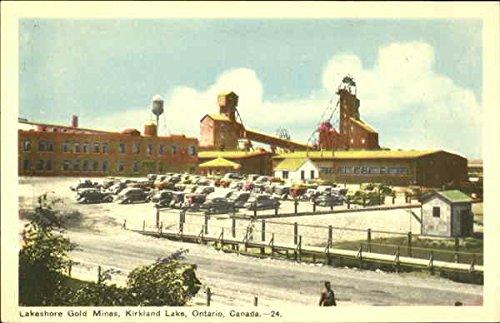 Lakeshore Gold Mines Kirkland Lake  Ontario Canada Original Vintage Postcard