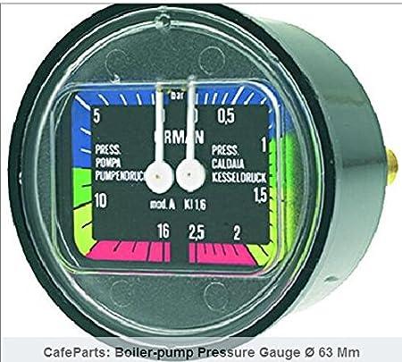 CMA Astoria boiler-pump Medidor de presión Ø 63 mm: Amazon.es: Hogar