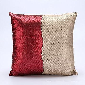 Amazon.com: haperlare 16 x 16 inch lentejuelas almohada ...