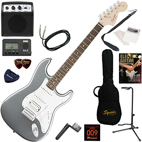 【逸品】 Squier エレキギター B01LZUBF1K 初心者 入門 リアピックアップにハムバッカーを搭載した 入門、幅広いサウンドメイキングが可能なストラトキャスター。 ミニアンプが入ったお手軽13点セット Affinity Squier Stratocaster HSS/SLS(スリックシルバー) SLS(スリックシルバー) B01LZUBF1K, 豊野町:a0324c0a --- suprjadki.eu