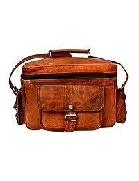 AMARTERRA Vintage Handmade Leather DSLR Camera Shoulder Bag