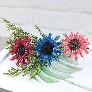 Ketuan Artificial FlowersThree Head Cosmos Eternal Flower Micro Landscape Decorative Ornaments (Multicolor)