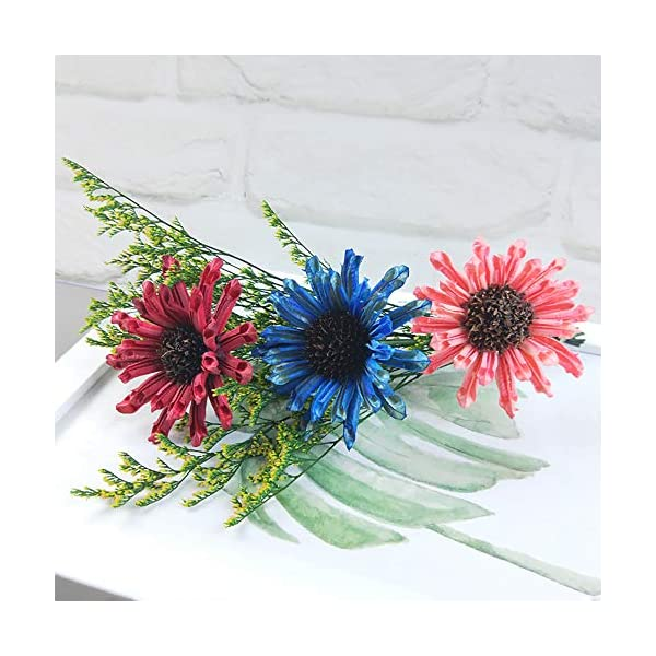 Ketuan Artificial FlowersThree Head Cosmos Eternal Flower Micro Landscape Decorative Ornaments (Multicolor)