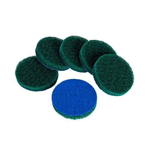 Kichwit 6-Pack Replacement Scrub Pads, Super Abrasive, Green (4 Inch)