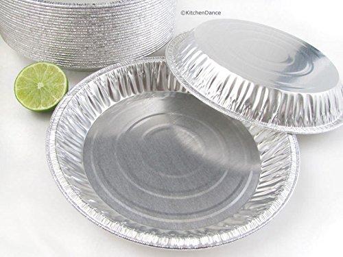 KitchenDance Disposable Aluminum Pie Pans #1042- Pack of 50 (Rim to Rim 9-5/8'' - Inside diameter 8-3/4'') by KitchenDance (Image #4)