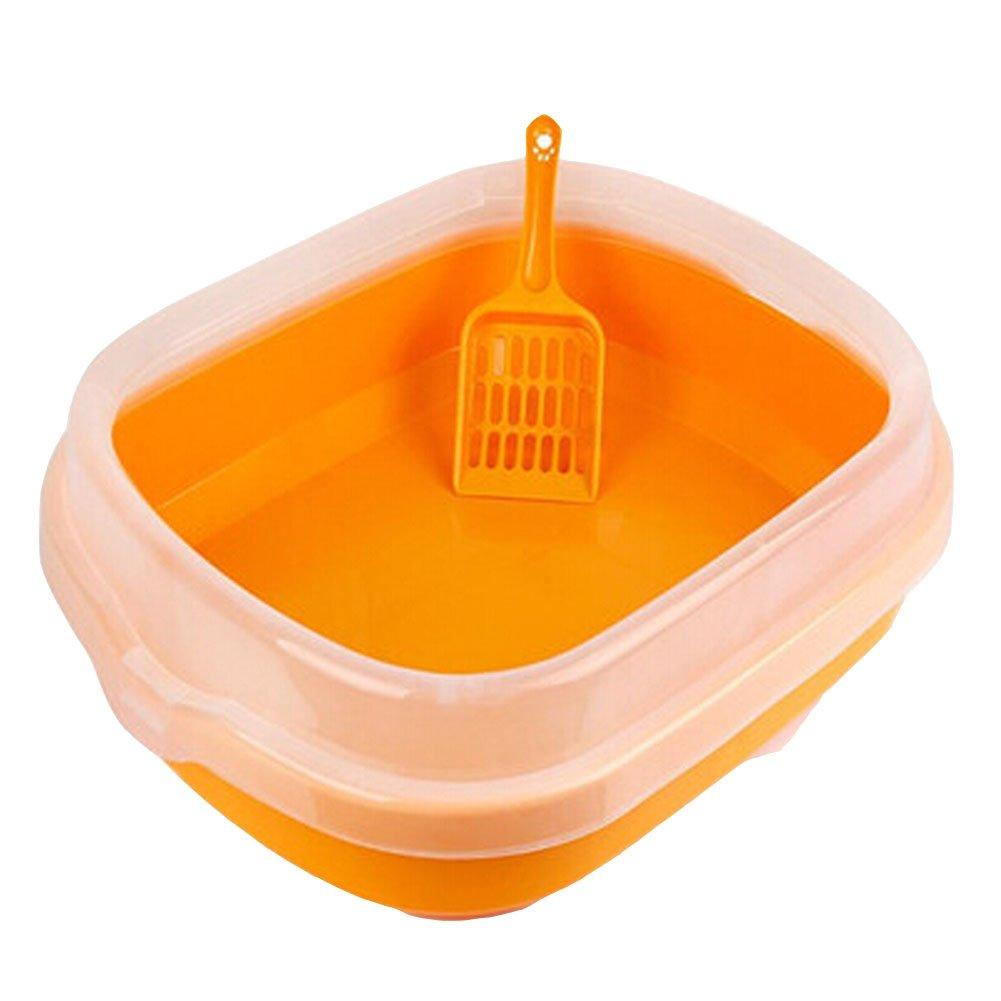 High-quality Indoor Training Pet Potty Cat litter Basin(18.5 1.5 5 ),orange