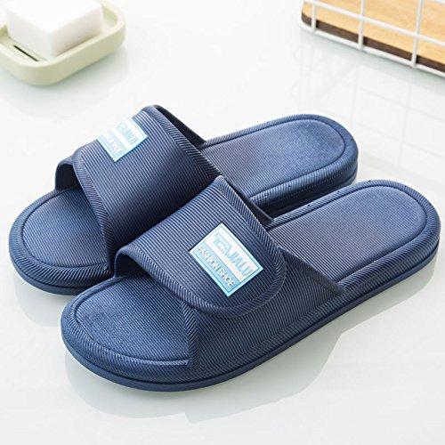 pareja casa marino inferior cubierta bañera casa Azul coreano Zapatillas baño simple Zapatillas de verano de Zapatillas antideslizante mujeres blanda verano ducha DogHaccd qaxT0Ynwn