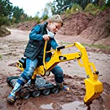 Sturdy and Heavy Duty Kettler CAT Metal Digger 360 Degrees 75 lbs Weight Capacity Swivel Ride-On with Dual ACtion Lever for Full Control of Digging, Dumping Gravel, Sand, Snow and for Building
