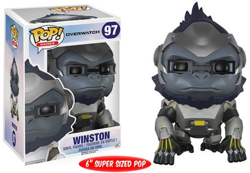 (Funko Pop! Games: Overwatch Action Figure - Winston,)