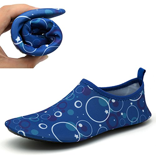CASMAG Männer Frauen Quick-Dry Wasser Schuhe Barfüßig Aqua Socken Für Yoga Strand Schwimmen Pool Übung Surf Blau2