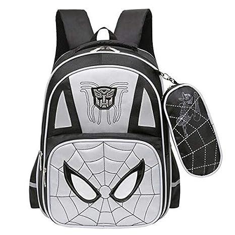 KZWZ 2017 Animated Cartoon Spiderman Boy School Bags Wear-Resisting 2-6 Grade Book