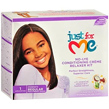 3e3b1d69d Just For Me No-Lye Conditioning Creme Relaxer Kit - Regular: Amazon.ca:  Beauty