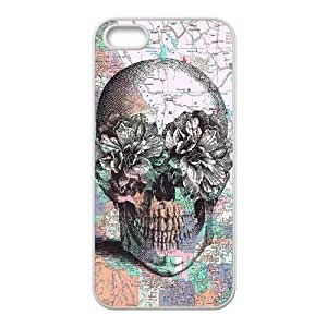 Cool Painting Skull DIY Cover Case for Iphone 5,5S,personalized phone case case556924