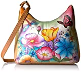 Anna by Anuschka Handpainted Large Hobo Floral Garden, Flg-Floral Garden