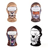 ECYC® Full face mask novelty personnality Balaclava neck protection well made warm light weight Fleece Snowmobile Bicycle Balaclava Fleece for snowboarding cycling Outdoor Sport [ Bear ]