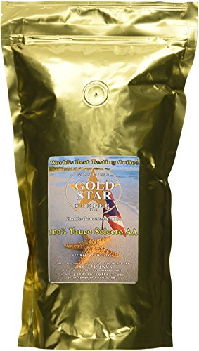 Yauco Selecto AA Coffee 1 Pound - 100% pure, Not a blend! Best from Puerto Rico -Free shipping - Roasted Whole Beans