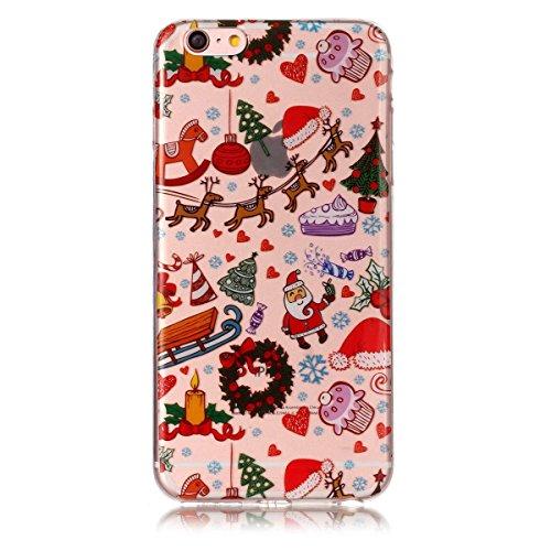 Christmas Funda iPhone 6 / iPhone 6s, FindaGift Navidad Series Phone Case Ultra Delgado Suave TPU Resistente a los arañazos del Teléfono Shell para iPhone 6 / iPhone 6s (Christmas Playground) Christmas Playground