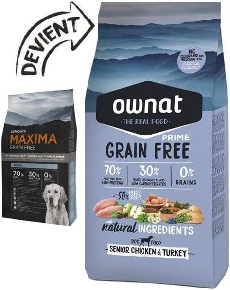 Ownat Grain Free Prime Senior Chicken & Turkey 14000 g: Amazon.es: Productos para mascotas