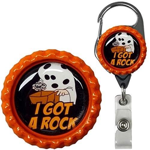 Great Pumpkin Charlie Brown Inspired Halloween Real Charming Premium Decorative ID Badge Holder (Charlie Brown Metal -