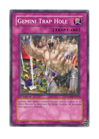 YuGiOh! Phantom Darkness 1st Edition # PTDN-EN073 Gemini Trap Hole - Common - Single YuGiOh! Card in Protective Sleeve