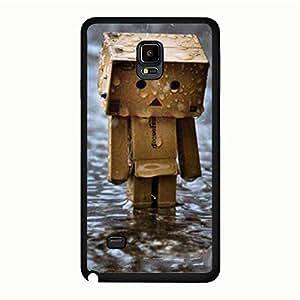 Samsung Galaxy Note 4 Hard Plastic Case Cover,Personal Creative Rain Mobile Phone Case for Men with Rain Design