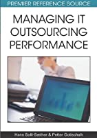 Managing It Outsourcing Performance Front Cover