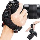 Mirrorless Camera Wrist Hand Strap Grip for Fuji Fujifilm GFX 50S X-H1 X-Pro2 X-Pro1 X-T3 X-T2 X-T1 XT3 XT2 XT1 X-T30 X-T20 X-T10 XT30 XT20 XT10 X-E3 X-E2S X-E2 X-E1 X100F X100T X100S X100 X70 X30 Red