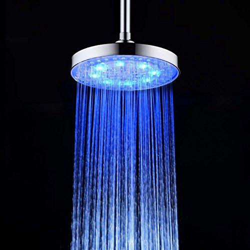 single color led shower head - 5