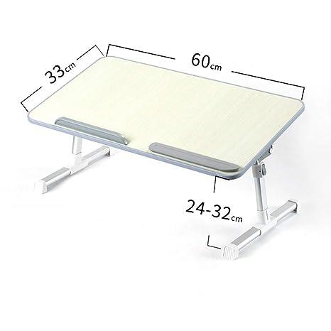 LLKOZZ Mesa Plegable, Mesa de Laptop, Mesa de Cama, Mesa de ...