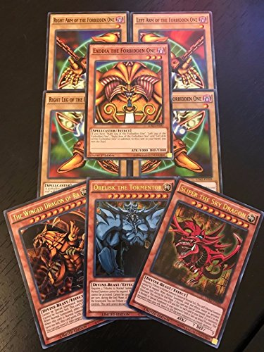YUGIOH TCG: EXODIA + EGYPTIAN GOD CARDS: OBELISK SLIFER RA - 8-CARD SET - LDK2 (Best Egyptian God Card)