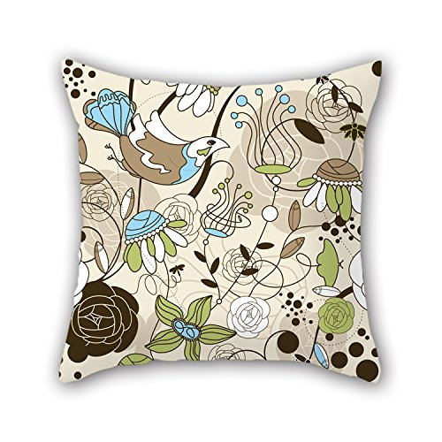 PILLO Flower Pillow Cases 18 X 18 Inches / 45 By 45 Cm Gift Or Decor For Family,divan,relatives,son,festival,christmas - Twin Sides