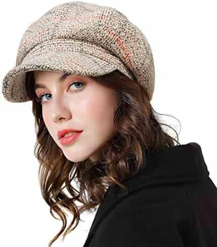 d7980c603dcc4 Sumolux Women Beret Newsboy Hat French Cotton Cap Classic Autumn Spring  Winter Hats