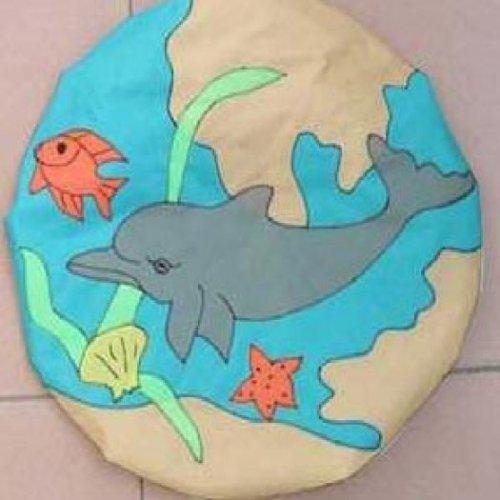 Satellite Dish Cover Wrap - Dolphin Design (Dish Satellite Cover)