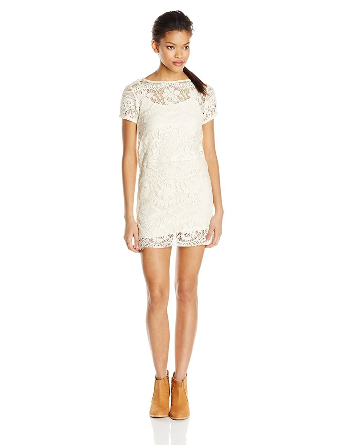 Suerhatcon Women's Mini Dress White