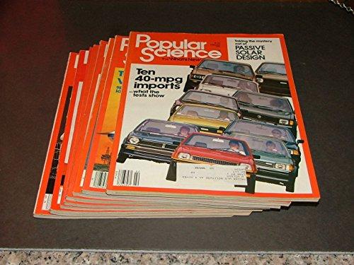 8 Iss Popular Science Feb-July,Oct-Nov, 1981 Passive Solar,40 mpg Imports,V/STOL