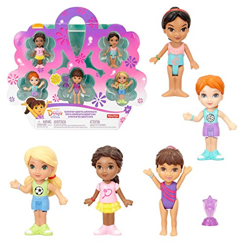 Dora And Friends Summer Sports Adventure Figure Pack, Play Set - Set of 5 Sports Figures (Dora And Boots Best Friends Forever)