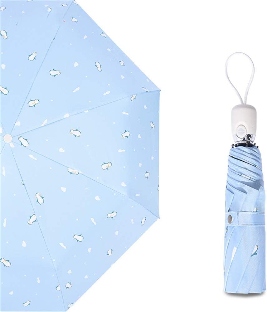 JUNDY Paraguas Plegable Mini Paraguas Ultraligero Resistente al Viento Plegable Compacto Paraguas portátil Sombrilla de plástico Negro Protector Solar colour17 97cm: Amazon.es: Hogar