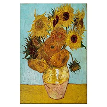 f5deaac02839e Wieco Art Sunflower by Vincent Van Gogh Oil Paintings Reproduction Large  Modern Floral Giclee Canvas Prints Artwork Flowers Pictures on Canvas Wall  ...