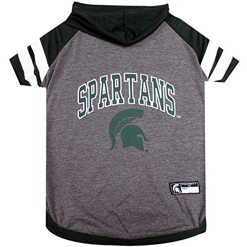 Michigan State University Doggy Hooded Tee-Shirt (X-Small)