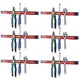 "Goplus 6 PCS 18"" Magnetic Tool Holder Bar Organizer Strips Storage Rack for Knife Wrench Pilers"