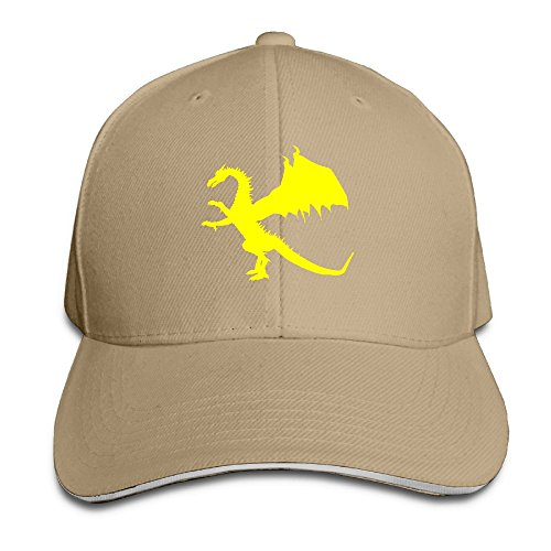 LaLago Dragons China Personality Running Sandwich Hat Natural